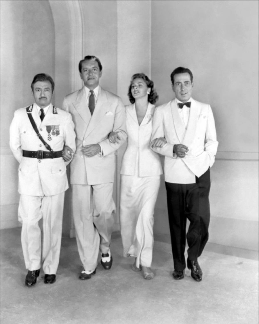 Raines, Henreid, Bergman, Bogart