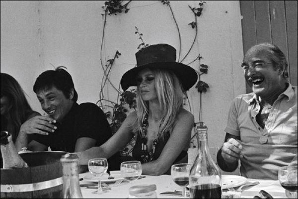 Alain Delon, Brigitte Bardot e Eddie Barclay
