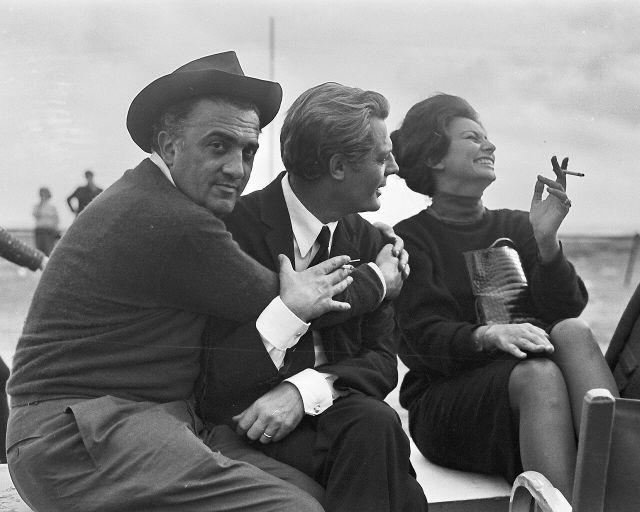 Federico Fellini, Marcello Mastroianni, Sophia Loren